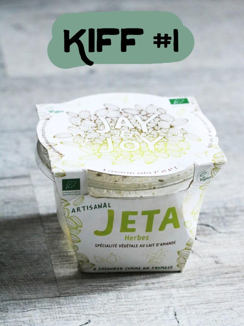 fromage vegan végétal de jay and joy, le jeta aux herbes