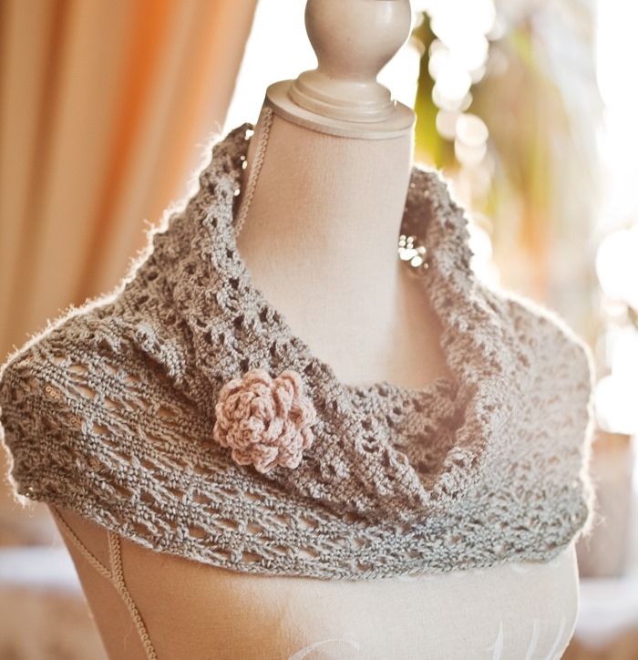 New pattern – Lace Cowl!