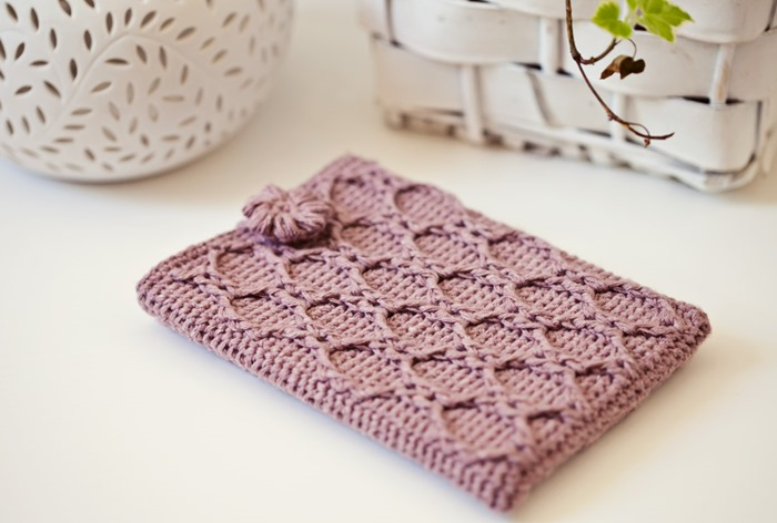 Crochet Book Cover Tutorial : Mon petit violon kindle love and free tutorial for