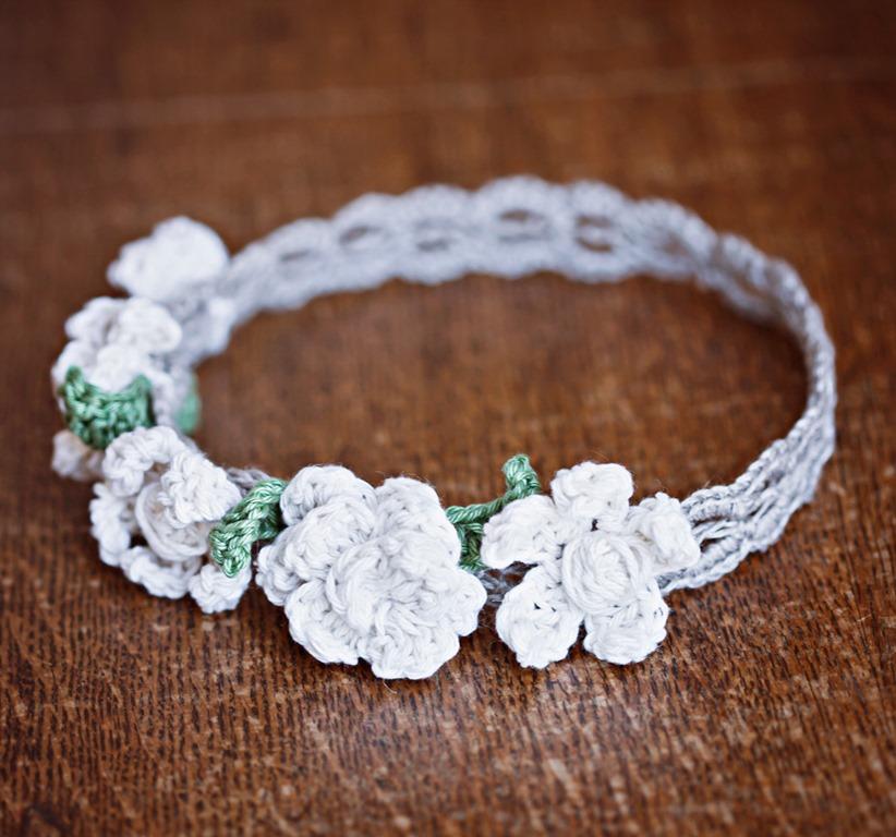 Crochet Flower Crown Tutorial : Mon Petit Violon Boutique Flower Headband? - Mon Petit ...