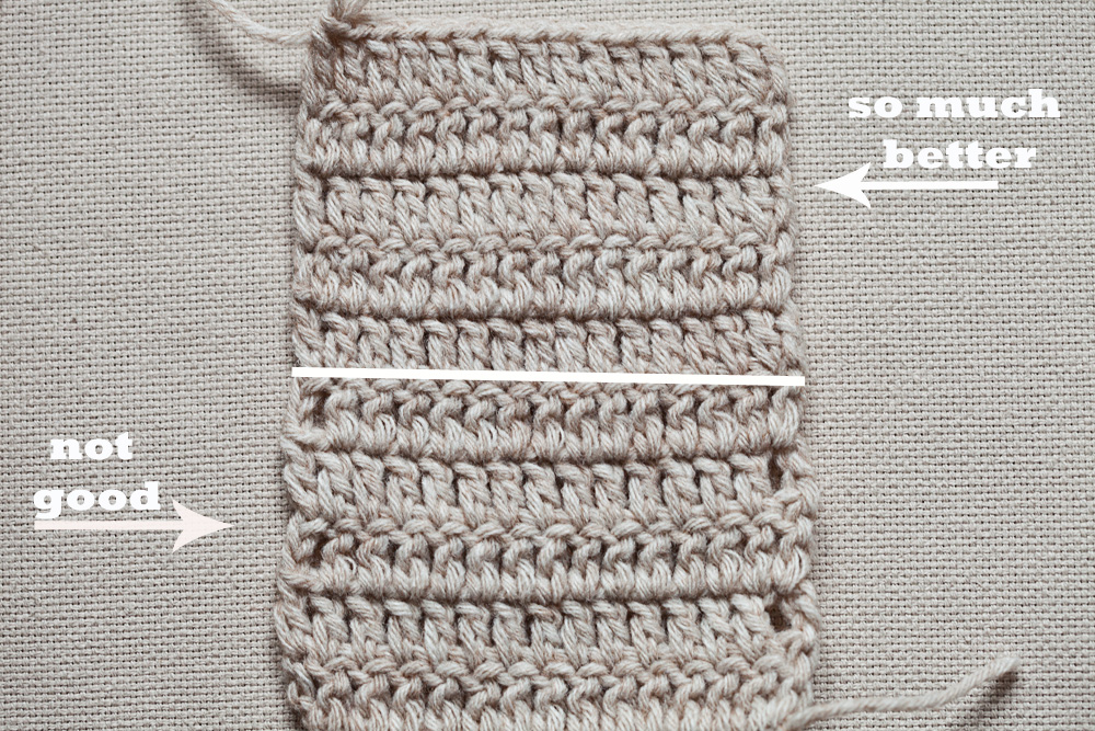 Crochet Tip - Double crochet Even Edge