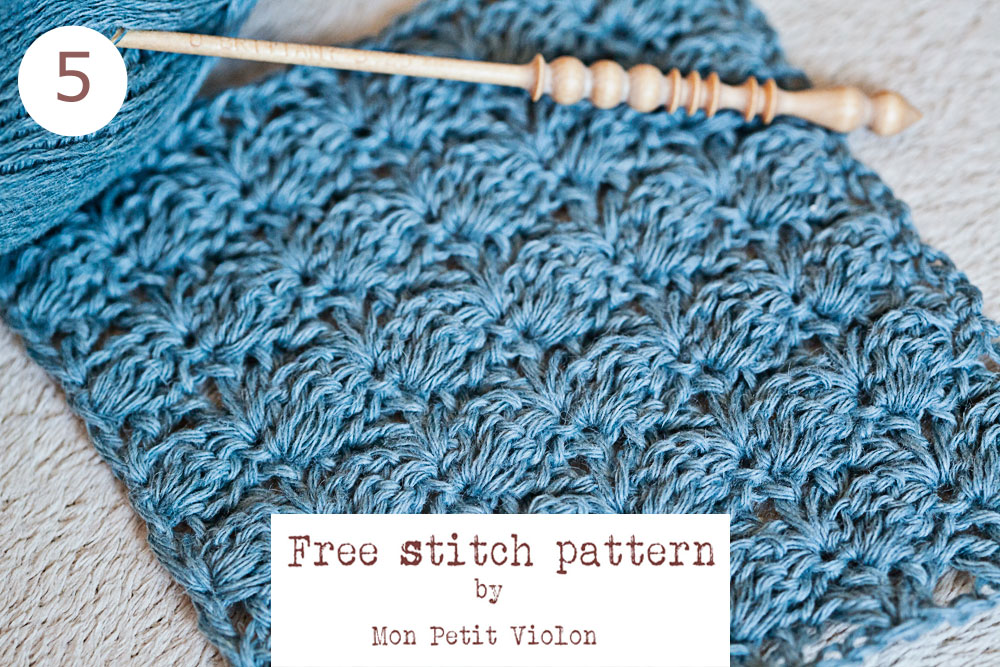 New free crochet stitch pattern - easy and beautiful!