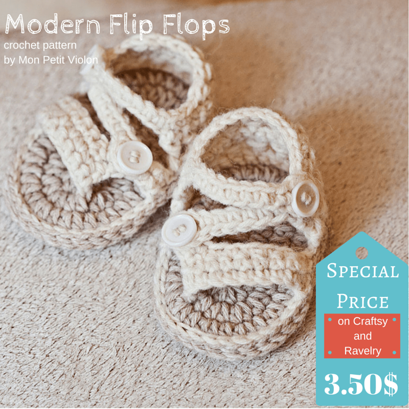 Awesome baby crochet summer sandals – Modern Flip Flops!