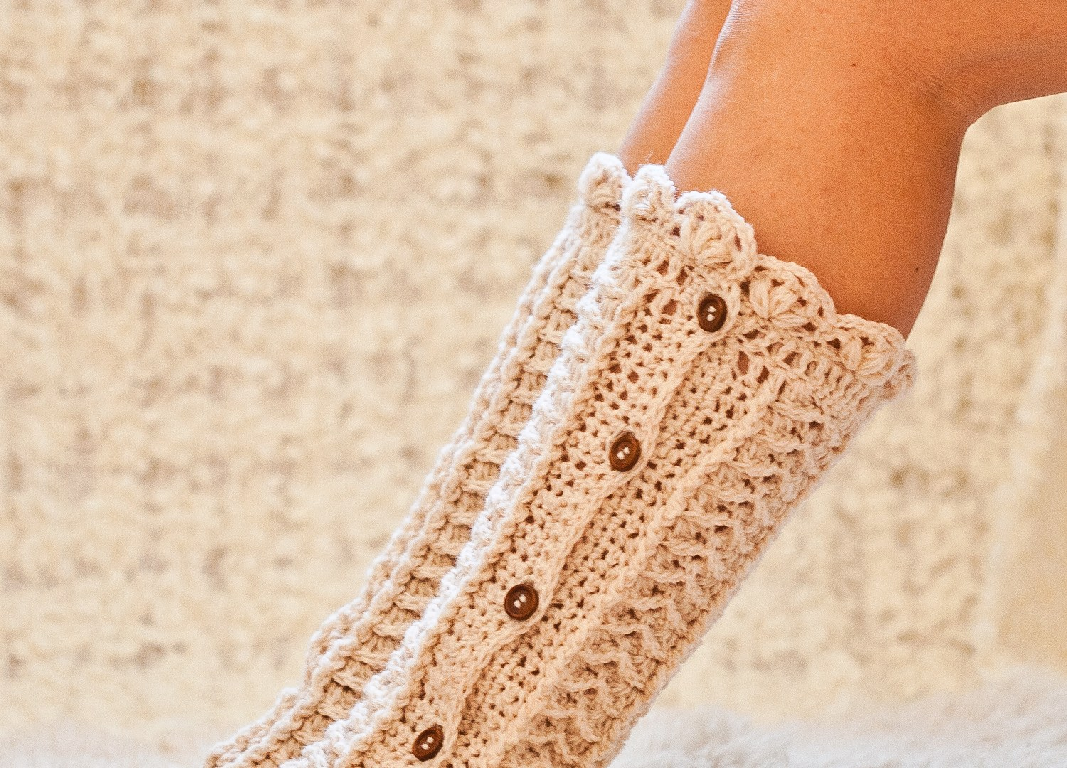 Keep your toes warm and cozy with these crochet socks and warmers!