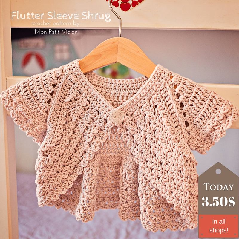 How to make perfect Flutter Sleeve Shrug? That's easy!