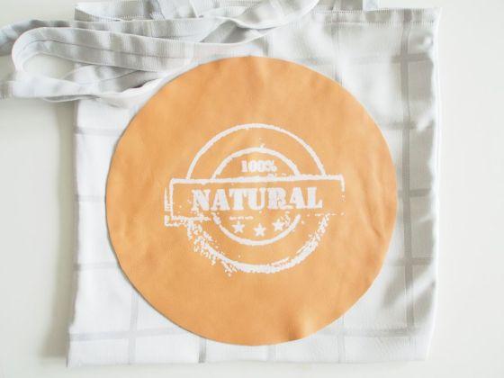 Grocery bag stencil