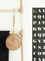 DIY copper ladder storage