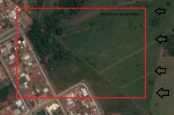 Localização da área
