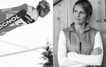 Les parrains de la course: </br>Sylvain Freiholz et Sandrine Bailly