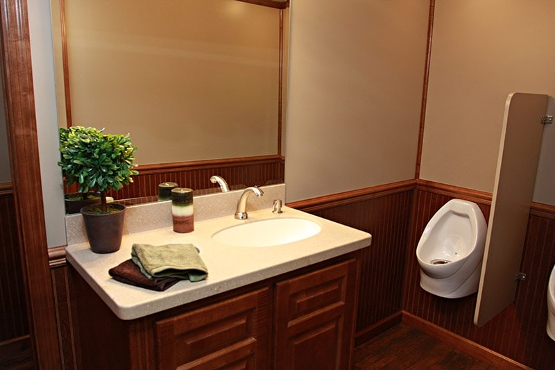 Embassy Restroom Trailer Interior