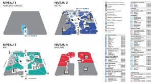Carte des magasins - Complexe Desjardins