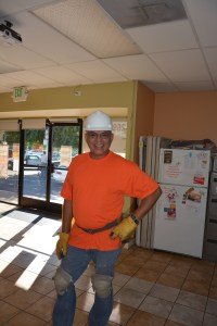 A day worker at the Monument Impact office