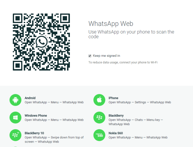 5 ways to run whatsapp on windows or Mac-whatsapp web website
