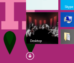 How to Change Start Menu Icons [ Customize ] in Windows 8 arrow button