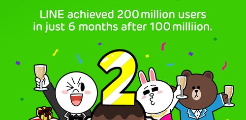 line貼圖免費下載活動 2億用戶數達成