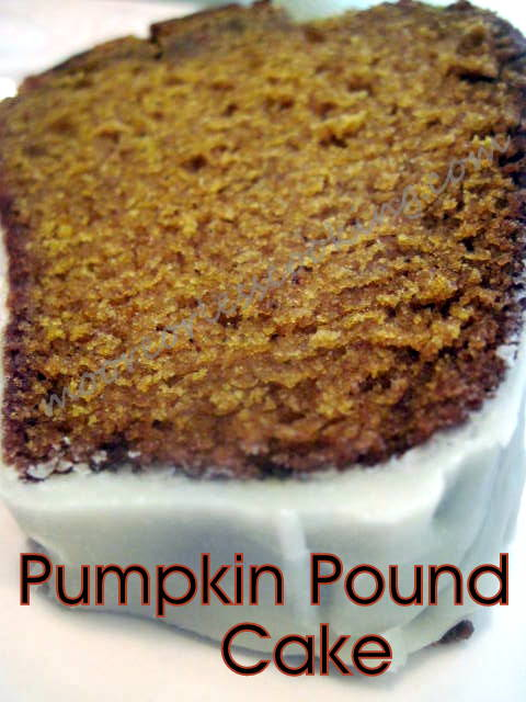 Pumpkin Pound Cake with a Maple Glaze