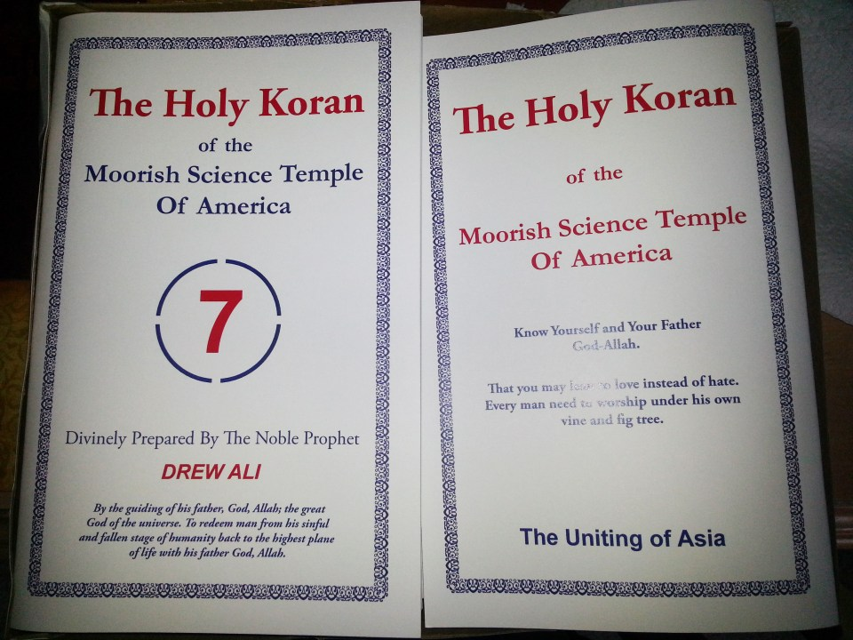 Holy Koran of The M.S.T. of A
