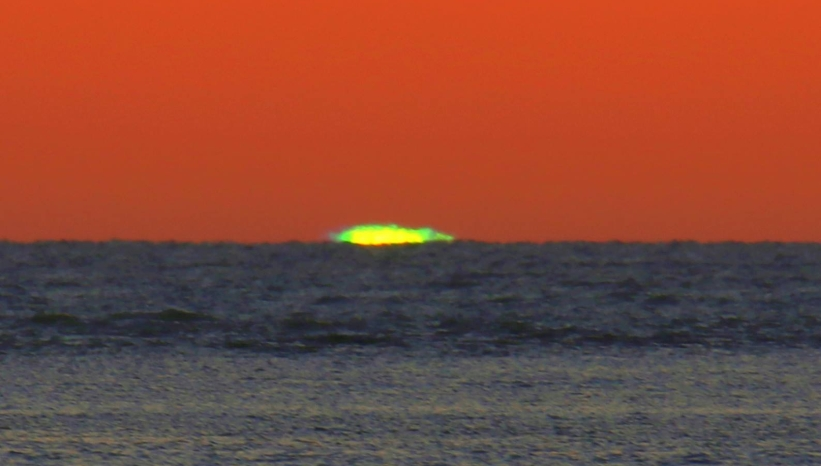 sunset green flash
