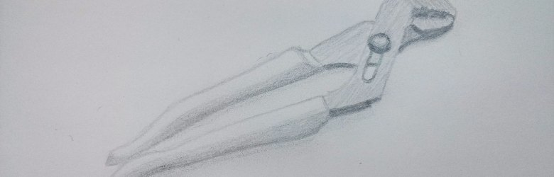 Pencil drawing of a parrot wrench