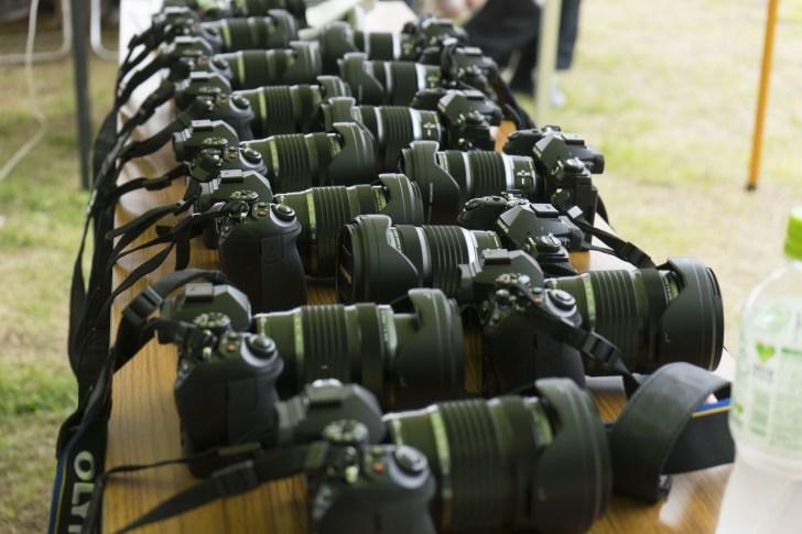 ズラッと並ぶ、OLYMPUS E-M1 Mark II