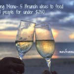 Wedding Menu- 5 Brunch ideas to feed 75-100 people for under $250