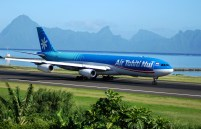 Air Tahiti Nui airbus taxiing on runway