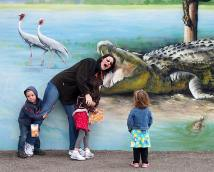 Oh noes! Katie is being eaten by an alligator! Faith and Max try to save her, while Josie looks totally unconcerned.