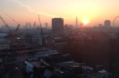 sunrise London skyline
