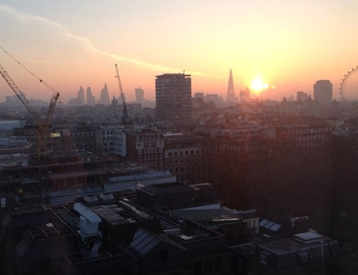 sunrise London skyline