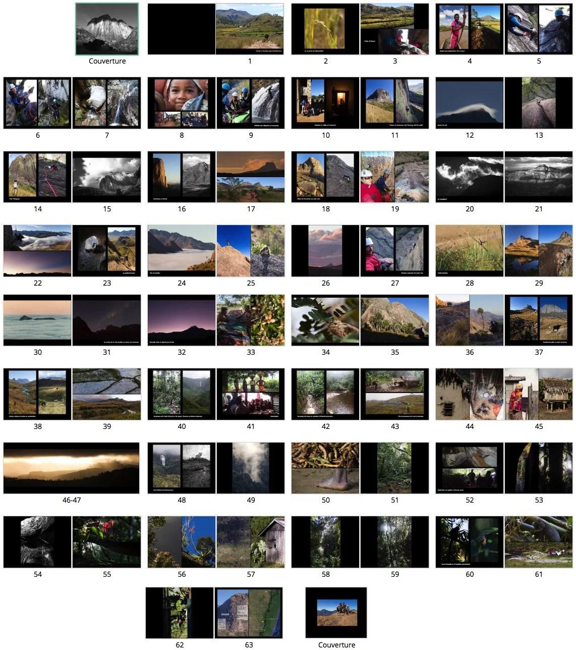 Livre de photographies Madagascar 2015