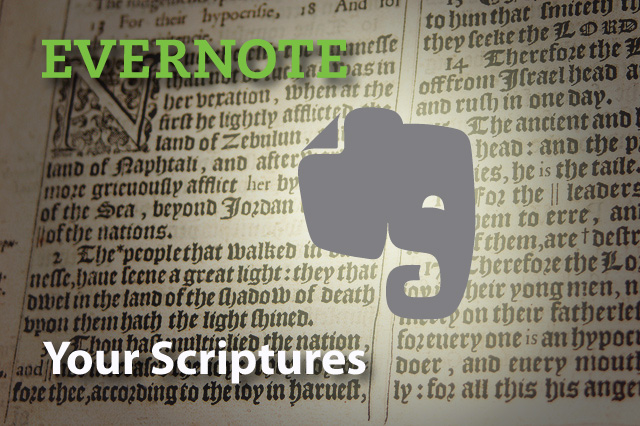 Evernote: study scriptures online
