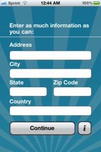 LDS Ward Finder App Screenshot