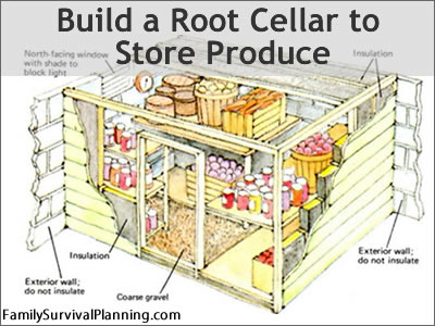 how to build a root cellar in canada