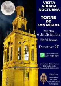 VISITA. Visita nocturna a la Torre de San Miguel. Asociación de Fieles de la Inmaculada. 6 de diciembre @ Torre de San Miguel  | Morón de la Frontera | Andalucía | España