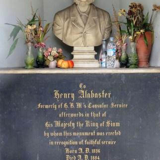 Henry Alabaster's monument, Bangkok Protestant Cemetery