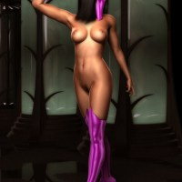 Mileena has a stunning body so she is not going to cover it (and you can't tell the same about her face though)