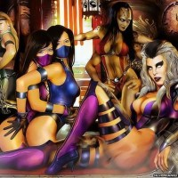 Shiva, Sonya, Kitana, Mulina and queen Cindel all unite for an astounding sexual sapphic wish! The queen Cindel instructs the youthful fighters!