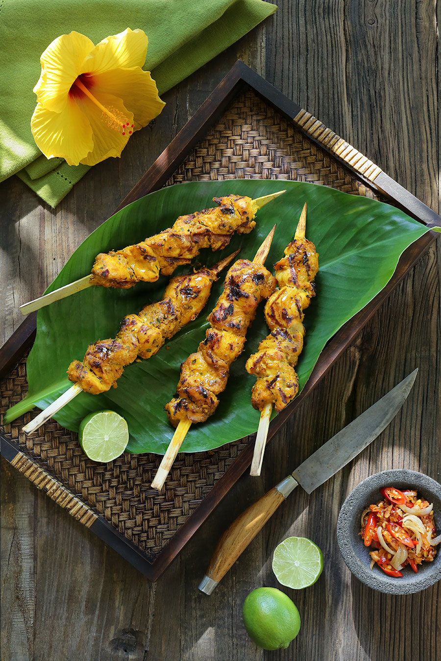Chicken satay recipe from Bali.