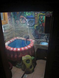 Psychedelic bathroom