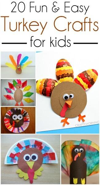 kids crafts, Thanksgiving crafts