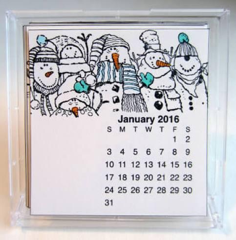 calendar ideas, scrapbooks, stamping