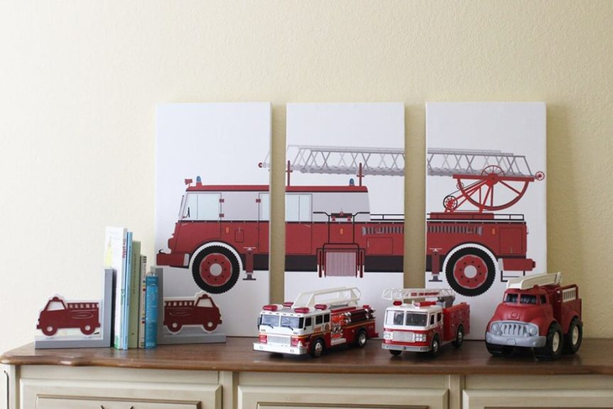 decorating ideas for kids, firetruck themed bedrooms
