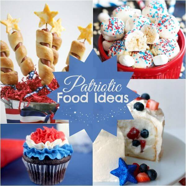 4th of July foods, patriotic food ideas