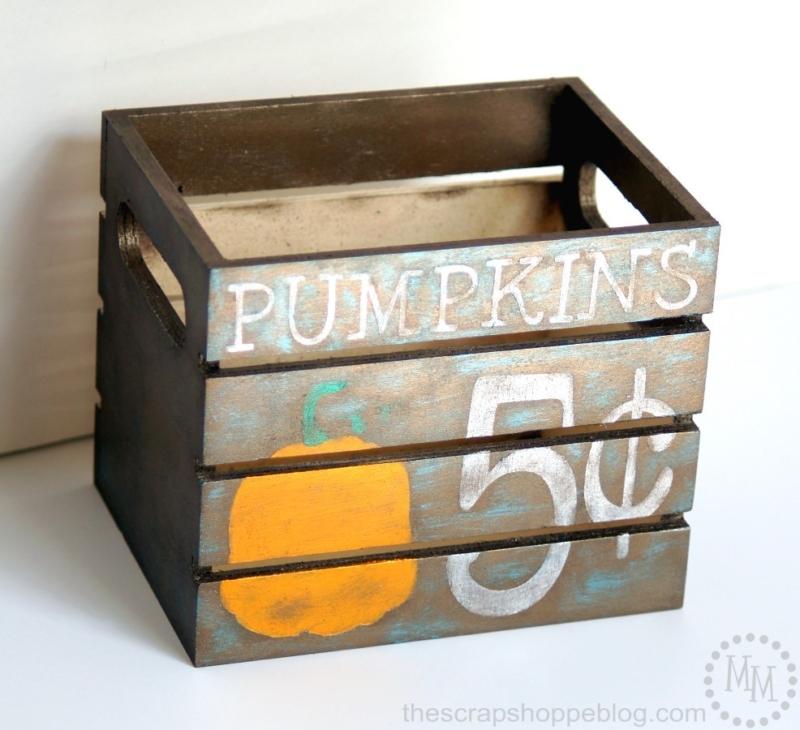 how to paint a pumpkin design crate