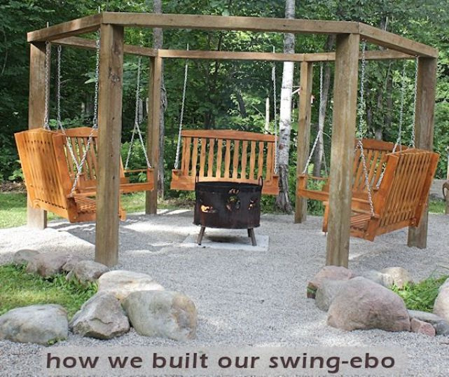 Fire Pit Swing Gazebo