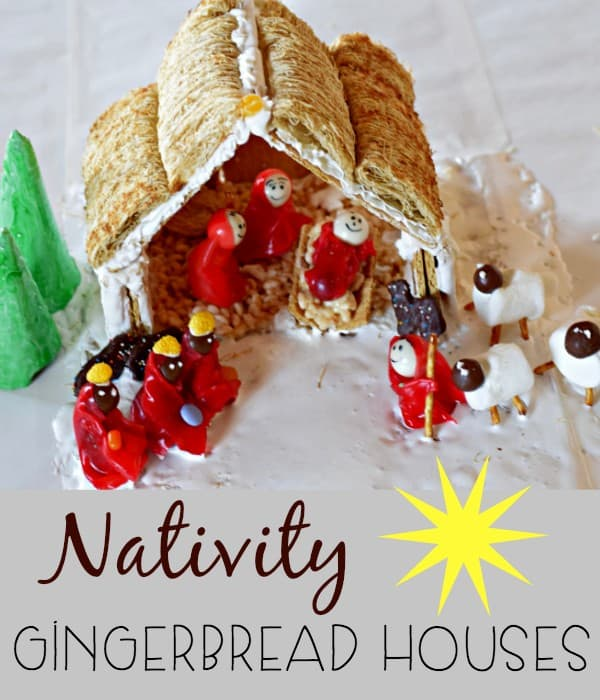 Nativity Gingerbrad Houses are Such a fun way to celebrate the true meaning of Christmas