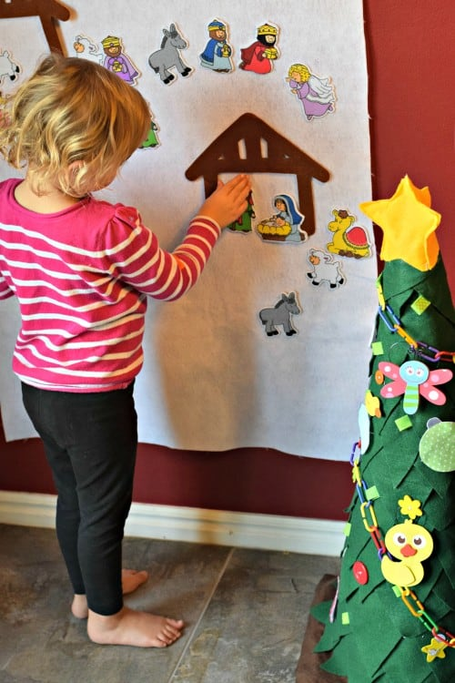 Felt Nativity Wall For Toddlers