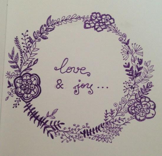Couronne fleurs love & joy
