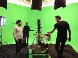 On set with grip Chris Atkinson