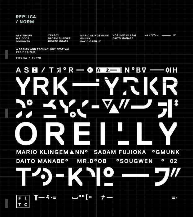 """After testing out a few faces, I designed a typographical one-sheet to experiment further with Norm Replica."""